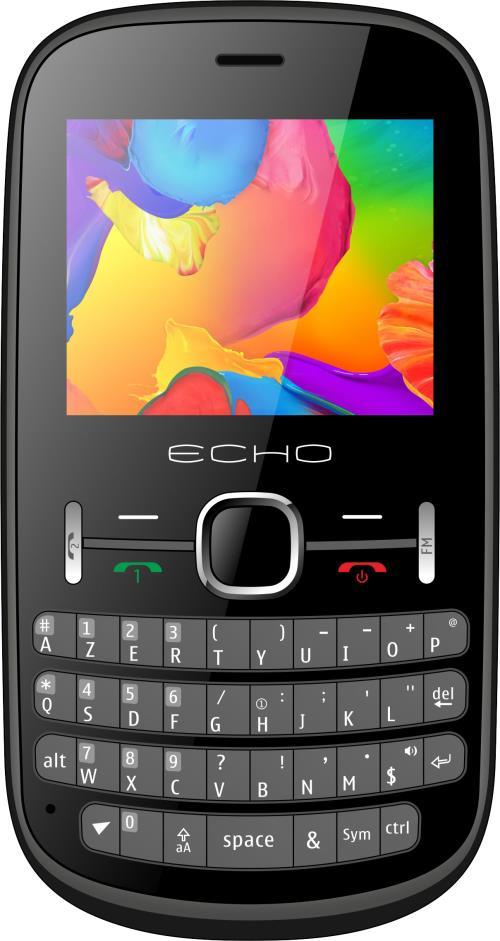 Téléphone mobile Echo Piano Double SIM Noir