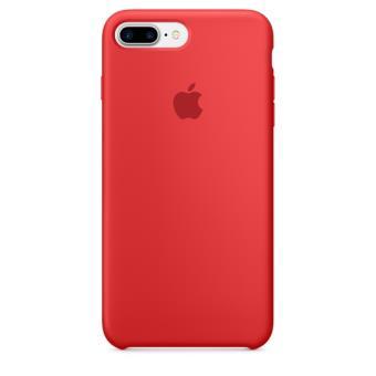coque en silicone apple pour iphone 7 plus rouge etui. Black Bedroom Furniture Sets. Home Design Ideas