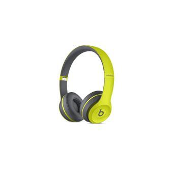 casque beats solo 2 wireless active collection jaune casque audio achat prix fnac. Black Bedroom Furniture Sets. Home Design Ideas