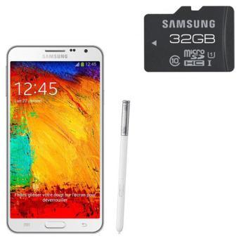 Smartphone Samsung Galaxy Note  Lite n Go Blanc Carte memoire Micro SD Class Adaptateur a w