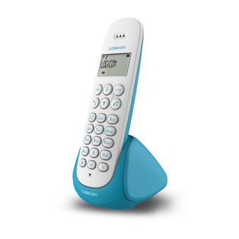 logicom aura 150 bleu t l phone sans fil num rique sans r pondeur achat prix fnac. Black Bedroom Furniture Sets. Home Design Ideas