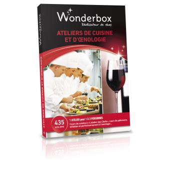 wonderbox coffret atelier de cuisine et d 39 oenologie