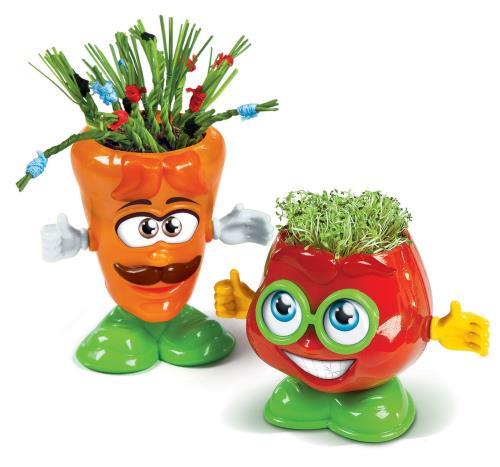 Assemble tes personnages colorées en forme de légume et apprends à cultiver les plantes.