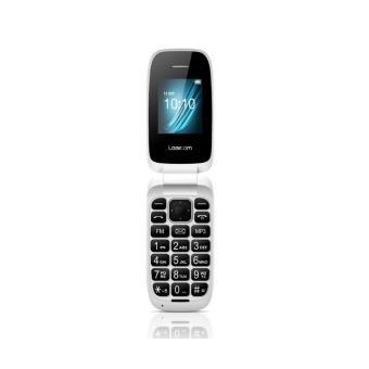 Telephone mobile Logicom Clapet L  Double SIM Blanc a w