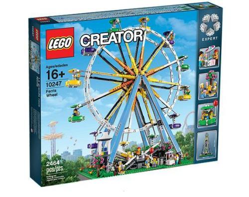 Construis la majestueuse grande roue, la star de la fête foraine ! Ce merveilleux modèle LEGO® Creator Expert a une élégance emblématique qui évoque la nostalgie, le romantisme et l´aventure. La fête foraine est arrivée en ville et le vendeur de glaces es