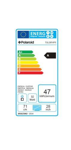 Fiche énergétique de TV Polaroid TQL28R4P.133 HD Noir
