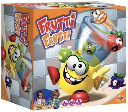 Miam miam les bons smoothies ! Lance les bons fruits dans le blender Frutti Frutti qui n´arrête pas de bouger ! Mais attention, vise bien et fais vite car s´il recrache des cartes quand c´est ton tour, tu les ramasses ! Le premier qui n´a plus de carte a