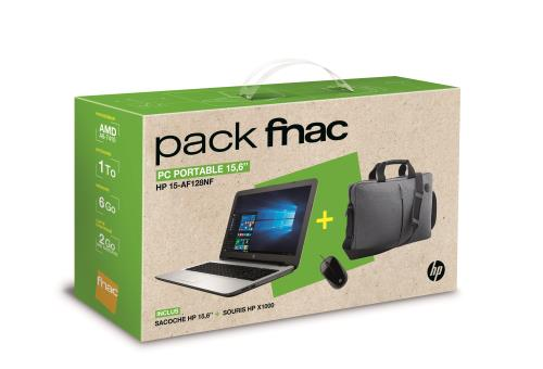 hp pack fnac pc portable 15 af128nf 15 6 sacoche souris ordinateurpascher. Black Bedroom Furniture Sets. Home Design Ideas