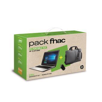 pack fnac pc portable hp 15 af128nf 15 6 sacoche. Black Bedroom Furniture Sets. Home Design Ideas