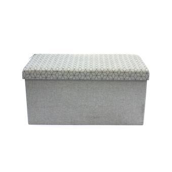 coffre rangement banc pliable the home deco factory gris clair m2 achat prix fnac. Black Bedroom Furniture Sets. Home Design Ideas