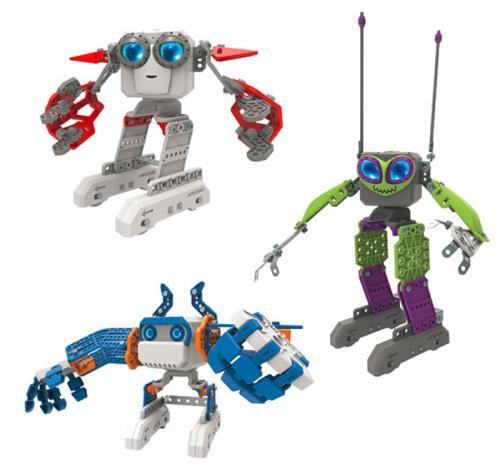 Un incroyable mini-robot de 120 pièces à construire, doté de nombreuses fonctionnalités dont un apprentissage intelligent des mouvements. Il chante, danse, et répond même par oui ou non à tes questions ! Vendu avec 2 outils. Fonctionne avec 4 piles LR03 n
