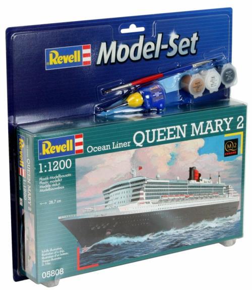 Model Set : Maquette plastique à monter, à coller et à peindre - 45 pièces à assembler - Le Model Set comprend également les 3 principales peintures acryliques, une colle et un pinceau. Echelle 1:1200
