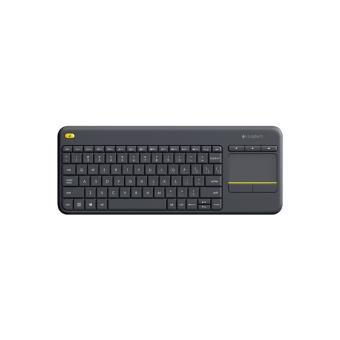 clavier sans fil logitech k400 plus noir clavier achat. Black Bedroom Furniture Sets. Home Design Ideas