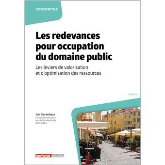 Les redevances pour occupation du domaine public broch jo l cl rembaux - Vente du domaine public ...