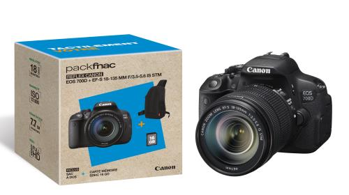 Pack Fnac Reflex Canon EOS D Obj EF S IS STM  mm f Sac SDHC Go a