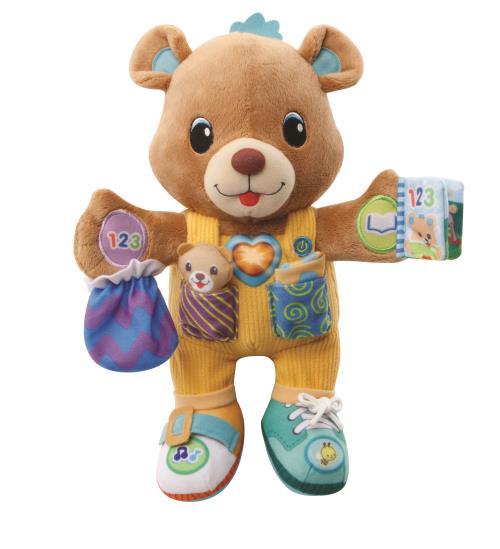 Gaspard 1, 2,3, habille-moi - 12 - 36 mois Un adorable ourson à câliner qui accompagne Bébé au quotidien avec différentes textures pour stimuler la curiosité de Bébé. Il apprend à Bébé à s´habiller et interagit avec lui grâce à ses 5 points d´interaction