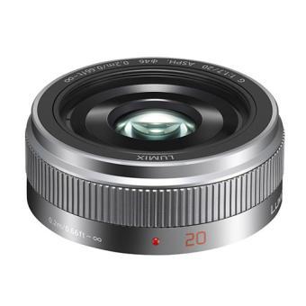 Objectif hybride Panasonic Lumix G 20 mm f/1.7 argent Objectif à