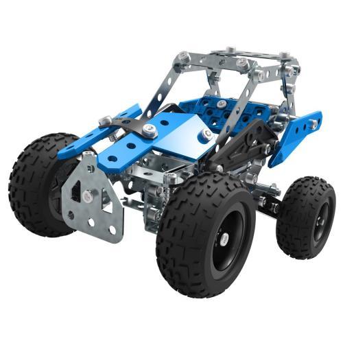 Construis un buggy et en route pour d´incroyables aventures ! Amuse-toi également à reconstruire d´autres engins et véhicules ! Direction et suspensions fonctionnelles. 15 modèles différents à construire à l´aide des instructions de montage. (Un seul modè