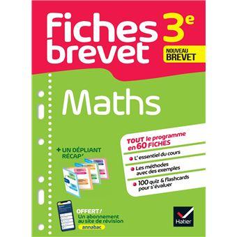 Fiches Brevet Mathématiques 3ème