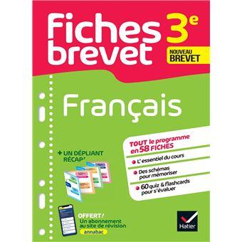 Fiches Brevet Français 3ème