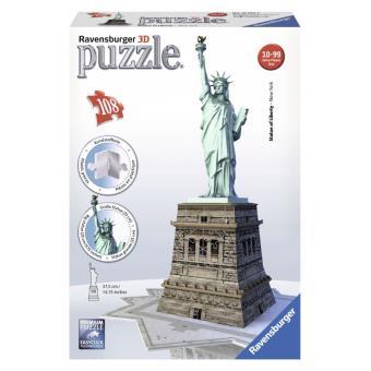 Puzzle 3D 108 Pièces Statue de la Liberté Ravensburger Puzzle 3D
