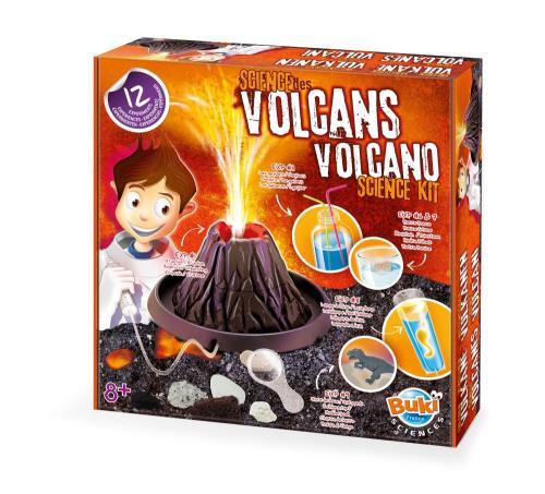 Recrée des éruptions, étudie les volcans, déterre les fossiles et observe les roches ! 12 expériences pour découvrir la géologie. Contient: réplique du volcan, poudre de lave, seringue et tuyau, matériel de protection, pâte à modeler, carte des volcans, r