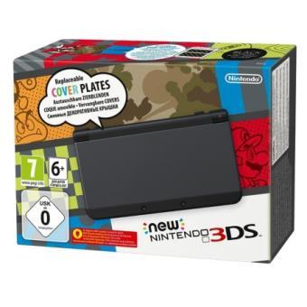 console nintendo new 3ds noire console de jeux portable. Black Bedroom Furniture Sets. Home Design Ideas