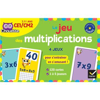 Jeu de cartes multiplication poche marie lise peltier for Jeu des multiplications
