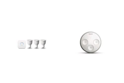 Set 3 ampoules Philips Hue GU10 + Interrupteur Philips Hue Tap pour 190€