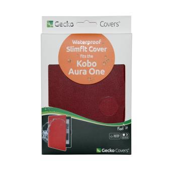 etui gecko sleepcover slimfit pour liseuse num rique kobo aura one bordeaux brun accessoires. Black Bedroom Furniture Sets. Home Design Ideas