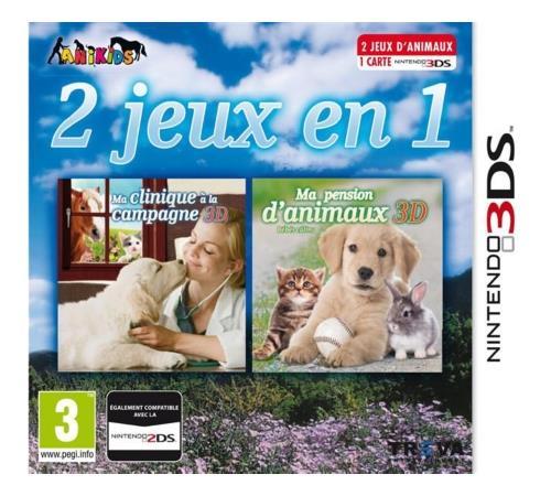 2 jeux en 1 Ma clinique à la campagne + Ma pension d'animaux 3DS - Nintendo 3DS