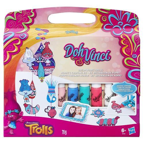 Décore tes personnages favoris de Trolls avec les tubes Doh-Vinci et utilise les pour décorer ta chambre !