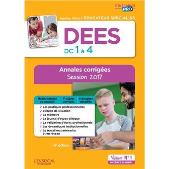 DEES, Épreuves de certification DC 1 à 4, Annales corrigées