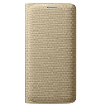 Coque Samsung Flip Wallet EF WG925B pour Galaxy S6 Edge Or Etui pour