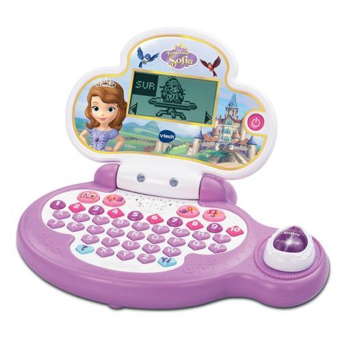 Un ordinateur éducatif aux couleurs de la Princesse Sofia (sous licence Disney).