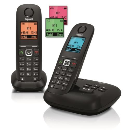 Téléphone sans fil Gigaset A540A Duo, Noir