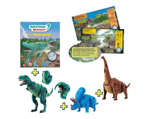 Tu es fan de dinosaures? Ce coffret expert est pour toi ! Il contient 3 oufs transformables en 3 des dinosaures les plus célèbres (T-Rex, Triceratops et Brachiosaure) ainsi qu´un livre de 30 pages pour tout savoir sur ces géants des temps anciens !