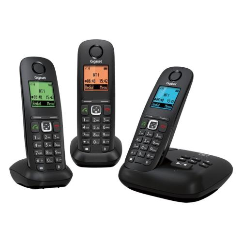 Téléphone sans fil Gigaset A540A Trio, Noir