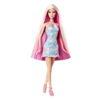 Poup e barbie cheveux long mattel rose poup e achat - Barbie chevaux ...