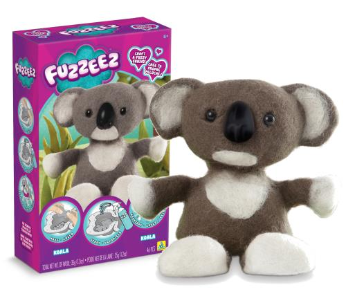 Fuzzeez Koala créé par The Orb Factory est un kit unique pour créer sa propre peluche ! En seulement 3 étapes, la peluche est plus vraie que nature. Il suffit de remplir le moule avec la laine colorée, de vaporiser l´eau et de la passer à la machine à lav