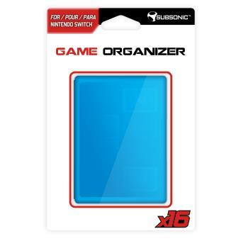 Boîtier pour cartouches Subsonic Game Organizer pour Nintendo Switch
