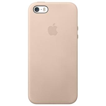 coque apple case cuir pour iphone 5 5s beige etui. Black Bedroom Furniture Sets. Home Design Ideas