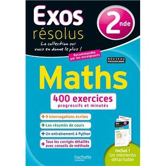 Maths exo 2nde Mathématiques