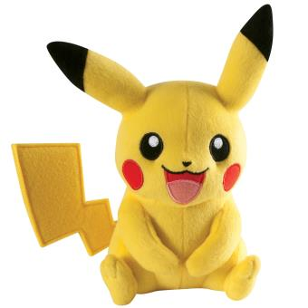peluche pok mon pikachu tomy 20 cm personnage en peluche achat prix fnac. Black Bedroom Furniture Sets. Home Design Ideas