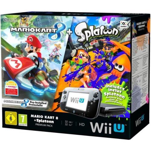 Pack Nintendo Premium Console Wii U Mario Kart 8 Code Splatoon