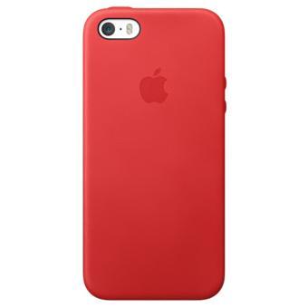 coque apple case cuir pour iphone 5 5s rouge etui pour t l phone mobile achat au meilleur. Black Bedroom Furniture Sets. Home Design Ideas