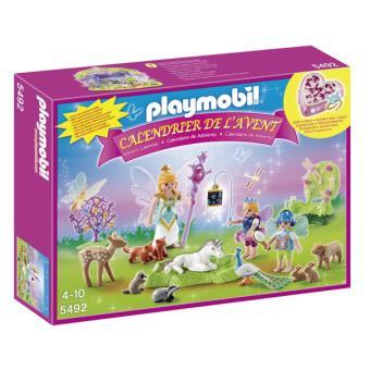 playmobil 5492 christmas calendrier de lavent fes avec licorne