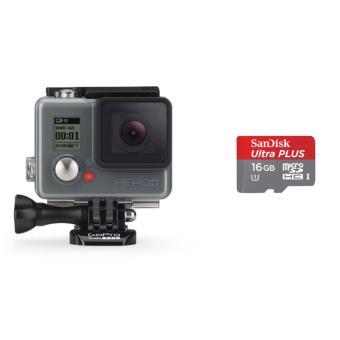 GoPro Hero+ + Geheugenkaart Sandisk ultra PLUS MicroSDHC 16Go 80Mo/seconde UHS-I met SD adapter