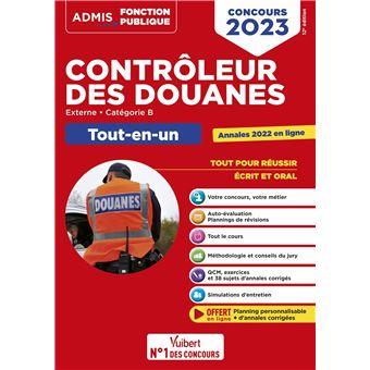 Concours Contrôleur des douanes, Catégorie B, Tout-en-un, Concours 2018