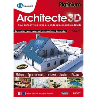 architecte 3d platinum pc sur jeux vid o achat prix. Black Bedroom Furniture Sets. Home Design Ideas